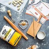 Kit para hacer pasta - Evangelistas de pasta - Regalos para parejas - Fabricante de pasta experto - Pasta artesanal italiana fresca - Set de seis piezas - Regalos de cocina - Ingredientes auténticos