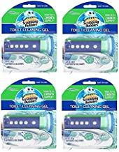 Scrubbing Bubbles Glade Rainshower Toilet Cleaning Gel, 4 Dispensers with 24 Gel Stamps
