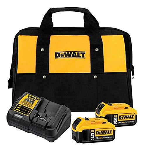 DEWALT 20V MAX Battery Starter Kit with 2 Batteries, 5.0Ah (DCB205-2CK)