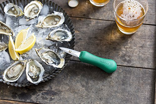 R. Murphy Duxbury Oyster Shucker RECYCLED OCEAN BOUND PLASTIC Knife - As Seen in Bon Appetit Magazine - Best Professional Shellfish Seafood Clam Shucking Tool - Made in USA (All 5 Colors, 1 Each)