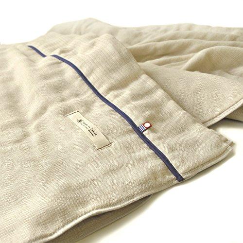 ブルーム 今治タオル 認定 ビレア ガーゼケット 5重ガーゼ タオルケット 綿100% やわらか ガーゼ生地 日本製 (クルミベージュ, シングルサイズ)