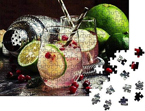 HNZYF 500/1000 Tabletten Puzzle Cranberry Limonade mit Limette und EIS Lernspiele Gehirn Herausforderung