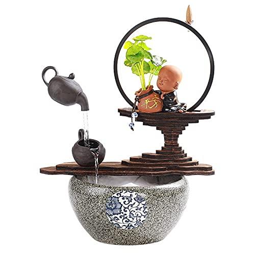 Fuente De Escritorio Fuente de la cascada de escritorio de la fuente de mesa mágica de estilo mágico de estilo chino creativo con luz - para la decoración de la oficina en casa Fuentes de inte