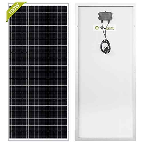 Newpowa 100 Watt Monocrystalline 100W 12V Solar Panel High Efficiency...