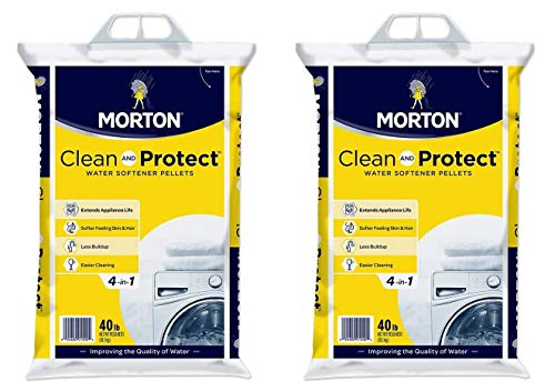 Morton Clean and Protect II Water Softening Pellets, 40-Pound, White, 40 Pound (Twо Pаck)