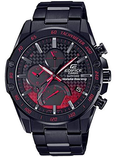 Casio Edifice Honda Racing Limited Edition - Reloj cronógrafo de cuarzo para hombre con correa de acero inoxidable Eqb-1000hr-1aer