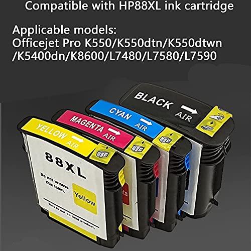 SVUZU Compatible El Reemplazo De Cartuchos De Tinta para HP 88 XL, Trabajo De Alto Rendimiento con OfficeJet Pro K550 K550DTN K550DTWN K5400DN K8600 L7480 L7580 L7590