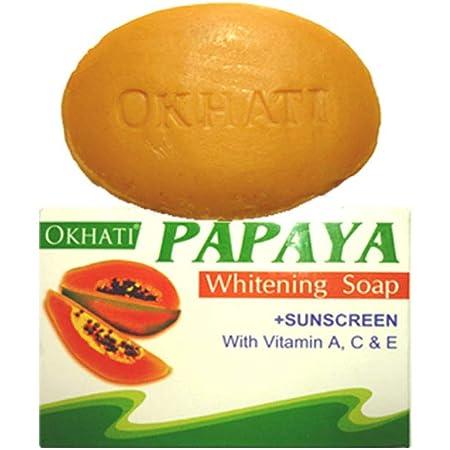 オカティ パパイヤ ソープ 125g AYURVEDEC OKHATI PAPAYA Whitening Soap/NEPAL HIMALAYA SOAP ヒマラヤ石鹸