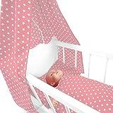 Sugarapple 4-teiliges Set für Puppenwiegen bestehend aus Himmel, Kissen, Bettdecke, Matratze aus...