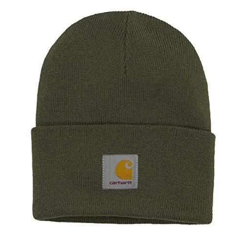Carhartt WIP Acrylic Watch Hat Gorro de Invierno Unisex con Pegatina 7kmh Verde 3542