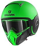 Shark Casco Jet Drak Street dimensioni Neon Nero Verde, Taglia S