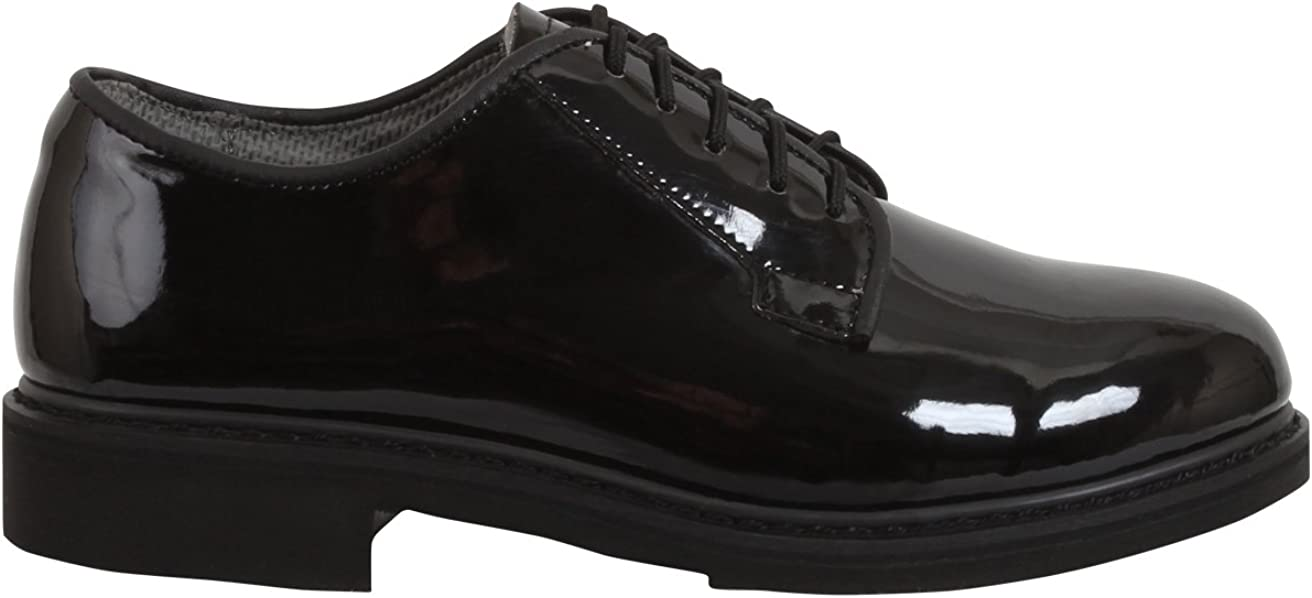 Rothco Uniform Oxford/Hi-Gloss Shoe, Black