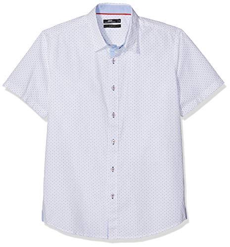 Inside 7CCMC12 Camisa Casual, Blanco (Blanco 90), Large (Tamaño del Fabricante:L) para Hombre