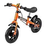 ENKEEO 12' Draisienne Pas de Pédale de Contrôle Vélo de Marche de Formation de Transition avec Siège Réglable et Guidon Rembourré pour Les Enfants (Noir)