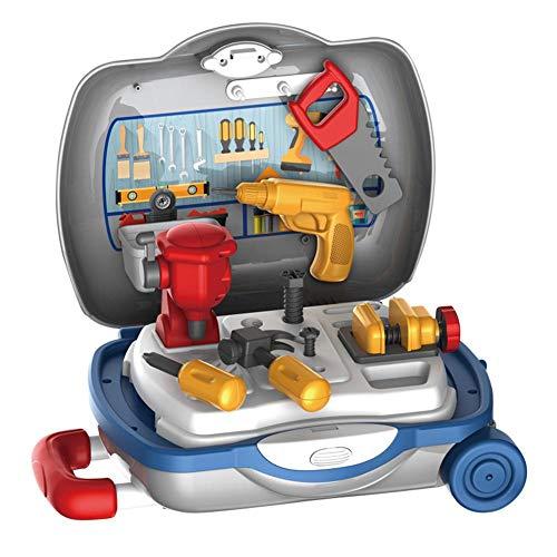 Luminiu Caja de herramientas para reparación de bebés con taladros eléctricos