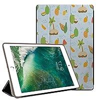 PRINDIY iPad Air 1/iPad Air タブレットケース, 三つ折りブラケット 全面保護型 レザー 指紋防止 落下抵抗 三つ折りブラケット 保護スマートカバー iPad Air 1/iPad Air Case-G 176