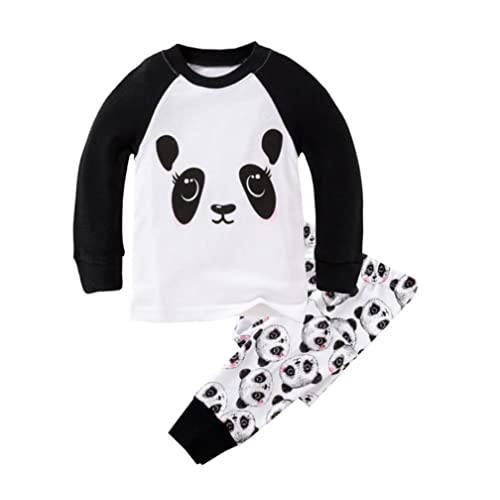 acdc80b437cf Mammybaby Little Girls Panda Long Sleeved Pajamas Set Cotton DRG7463