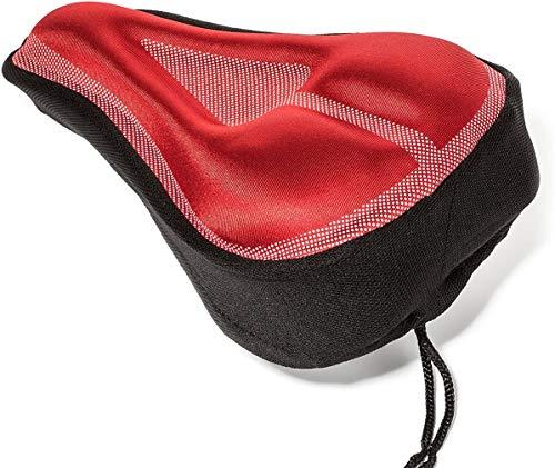 Cómoda cubierta de asiento de bicicleta con cubierta de asiento de cubierta de lluvia Adecuado para bicicletas de montaña Bicicletas de carretera Cruiser Bikes Deportes o bicicletas de giro,Rojo