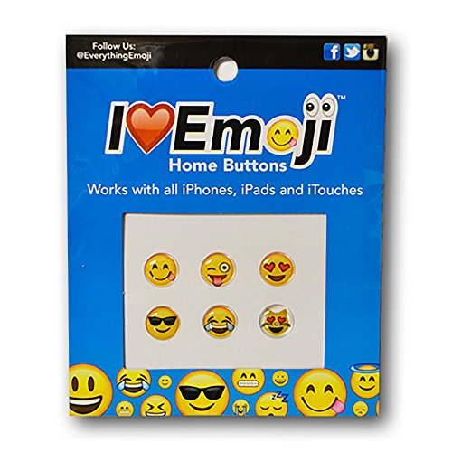 Emoji Home Button Charm - Six Designs - Set #1