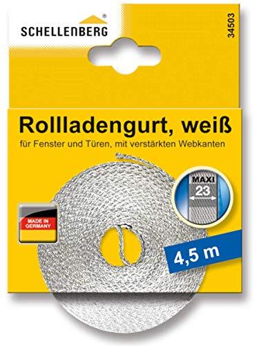 Schellenberg 34503 Rollladengurt 23 mm x 4,5 m - System MAXI, Rolladengurt, Gurtband, Rolladenband