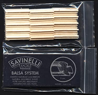 9mm Savinelli BALSA WOOD Pipe Filter - 30 filters