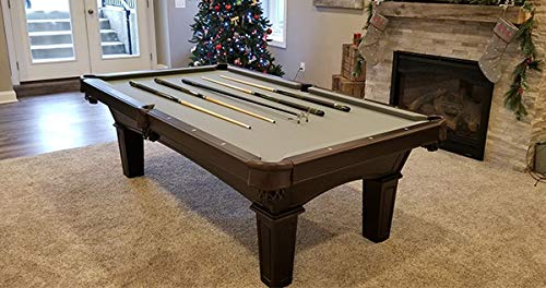 Olhausen Billiards 8 ft Belmont Pool Table – Matte Original Cherry Finish – Includes Delivery & Installation, Cues, Balls and Accessories – Choice of Cloth Colors – Americana Series