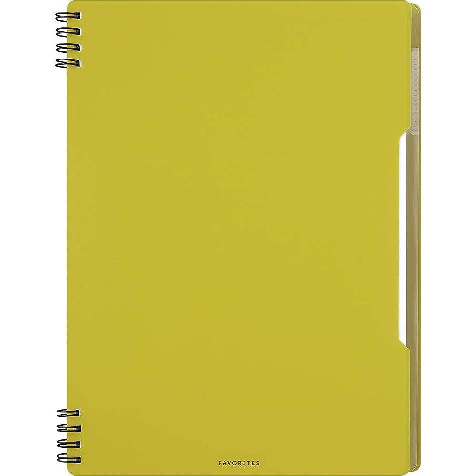 キングジム フェイバリッツ リングノート セミB5 黄色 FV9055Tキイ 【まとめ買い5冊セット】