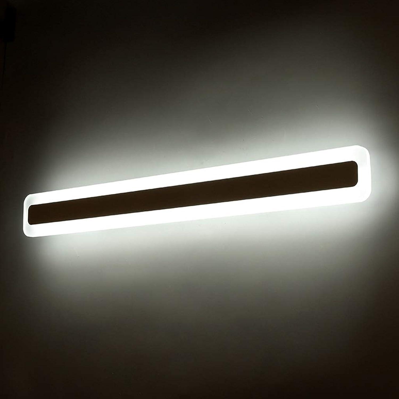 Spiegelleuchte Moderne minimalistische LED Kunst Badezimmerspiegel Scheinwerfer, Kreatives Rechteck Einfache Bad Kabinett Mode Atmosphre Lampen Beleuchtung zu Hause A+