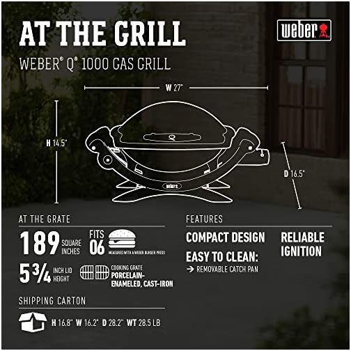 Weber 50060001 Q1000 Liquid Propane Grill,Chrome 4