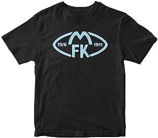 Molde FK Fotballklubb Norway Soccer Football t Shir,Black,Small