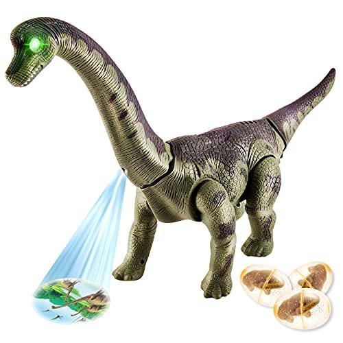 TOEY PLAY Dinosaurios Juguete Poner Huevo Braquiosaurio Figuras Proyección Caminar Dinosaurio Robot...