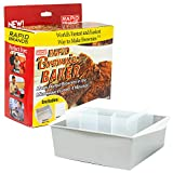 Rapid Brownie Maker | Microwave Delicious Brownies in 4 Minutes | Perfect for Dorm, Small Kitchen, or Office | Dishwasher-Safe, Microwaveable, and BPA-Free