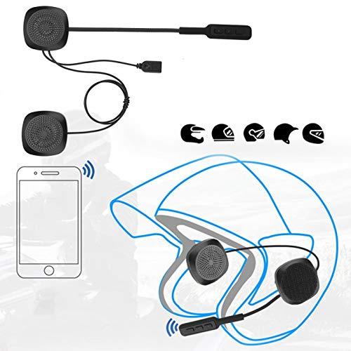 Pinsofy Auriculares para Casco Bluetooth, Respuesta automática/Manual Tiempo de Trabajo prolongado Función de Llamada Auriculares para Casco para Motocicleta para Motocicleta
