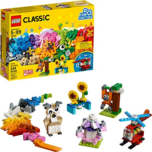 LEGO Classic Bricks and Gears 10712 Building Kit (244 Pieces)
