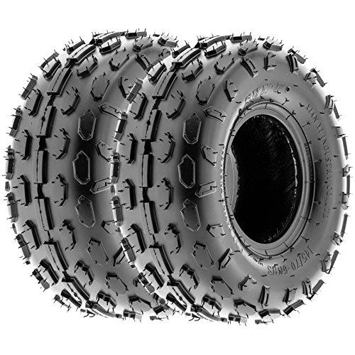 SunF 145/70-6 145/70x6 ATV UTV Tires 6 PR Tubeless A015 [Set of 2]