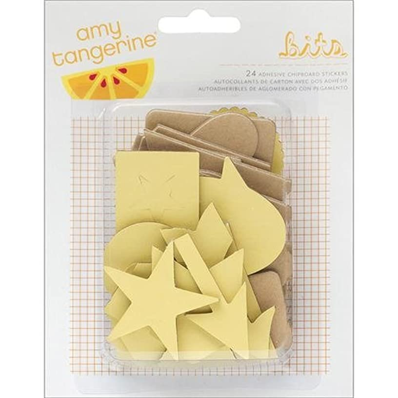 American Crafts Cut and Paste Bits Adhesive Chipboard Pieces, 24 Per Pack