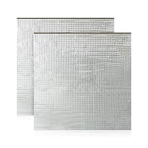 Cnloyua 2 Stück 300*300mm 3D-Drucker-Plattform-Heizbett-Isolierung, Schaumstofffolie, selbstklebende Isoliermatte, Hotbed Thermo-Pad, reduzierter Stromverbrauch, reduzierte Heizzeit