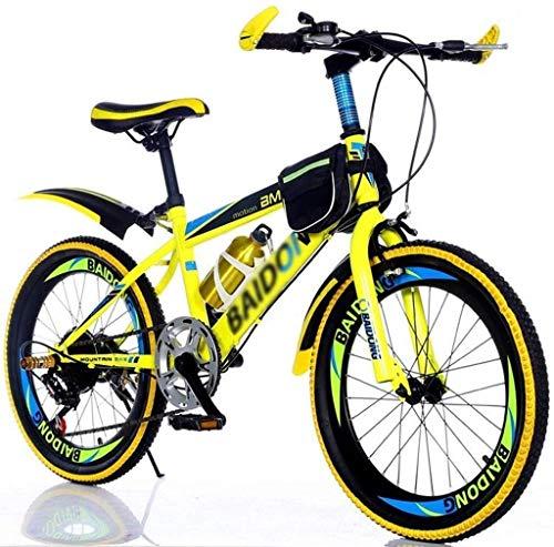 BANANAJOY 20 pollici for bambini Mountain bike for adulti della bicicletta maschio e femmina off-road Boy Escursionismo Bike Studente Bambino velocità regolabile pedale della bicicletta (Colore: giall