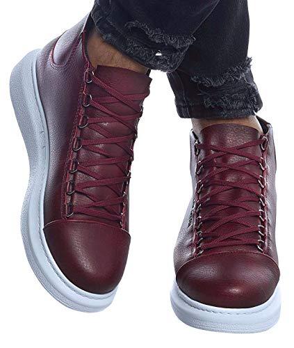 Leif Nelson Herren Schuhe Freizeitschuhe Boots Elegante Moderne Schuhe für Winter Sommer Männer Sneakers LN163;45,Bordo