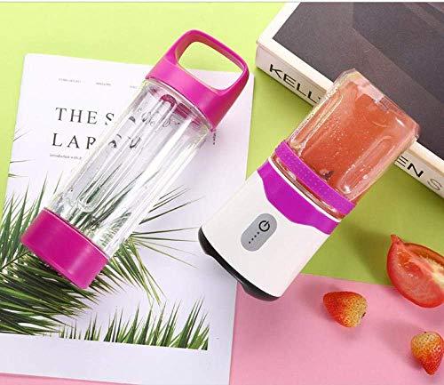 YXZQ Entsafter, Sechsblättriger elektrischer Saft-Schalen-Saft-Schalen-Wieder aufladbarer Haushalts-tragbarer Mini-Frucht-Entsafter Lila