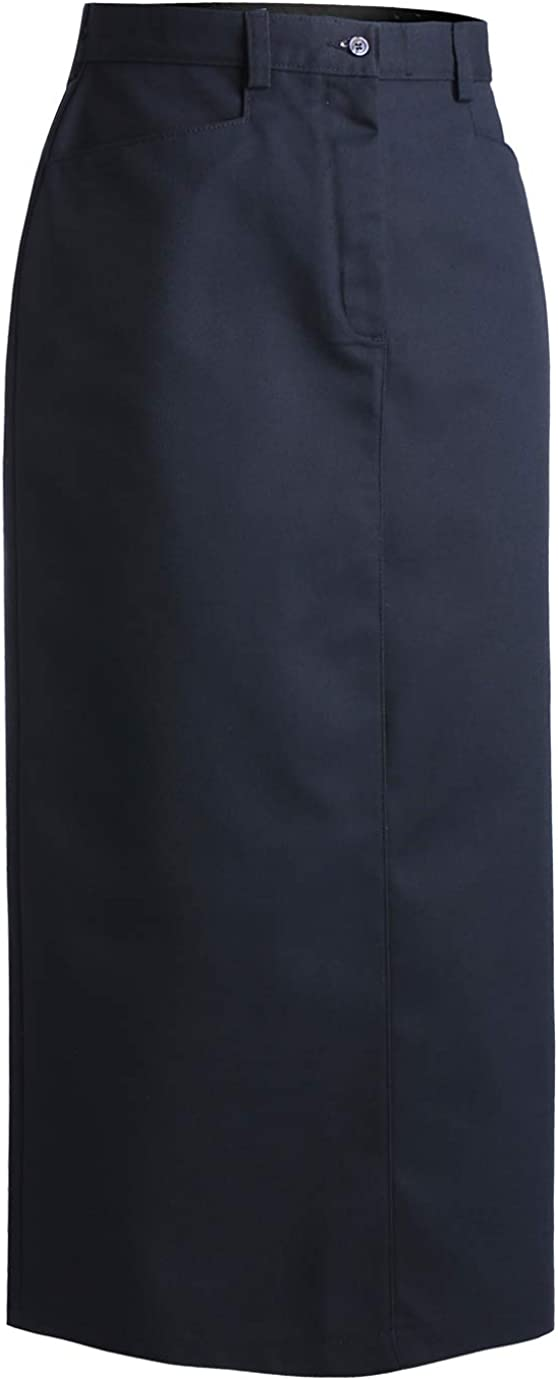 Edwards Ladies' Blended Length Chino Skirt-Long Max 49% OFF Choice