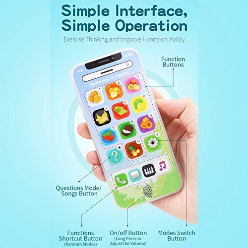 Ruining Juguete para teléfono móvil para niños, Interfaz Simple, teléfono móvil Educativo Duradero, niñas para la educación, niños, niños