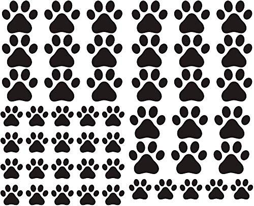 Adhesivo 49 piezas/juego etiqueta de la pared de la pata del perro etiqueta de la huella del vinilo animal huella mural decoración infantil niño niño dormitorio dormitorio de la habitación sala de e