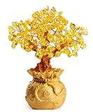 HapiLeap Árbol de Dinero, Gemas Feng Shui Adornos de árbol de Cristal curativo Figuras...