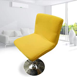 BEOTARU Bar Chair Cover Low Back Spandex Elastic Seat Covers Solid Color Stretch Hotel Chairs Slipcover