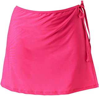 Howely Women's Solid Beachwear Casual Lace Up Detail Slim Fit Skirt