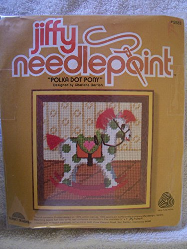 Polka Dot Pony Needlepoint Kit