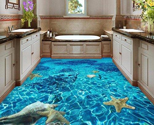 Rureng Wall Stickers Floor Floor Of Sitting Room Wall Paper Waterproof Self-Adhesive Pvc Bathroom 3D Flooring-350X250Cm