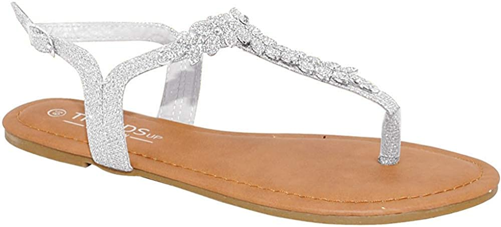 TRENDSup Collection Womens Japan's largest assortment T-Strap Sandals Flats Some reservation Buckle