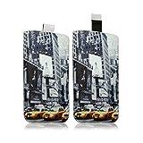 Seluxion LM01-Funda calcetín universal para teléfono móvil talla XL, diseño de Times Square para Hisense G610 TPU, Hisense H910 -